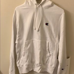 Champion reverse weave hoodie white size S